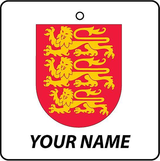 Personalised England Coat Of Arms Car Air Freshener