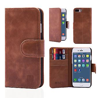 32nd Premium Leather Wallet for Apple iPhone 7 Plus - Chestnut