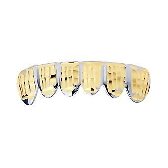 Silber Grillz - One size fits all - Diamond Cut ONE - Bottom