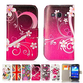 Design book PU leather case cover for Samsung Galaxy Ace 3 (s7270) - Love Heart