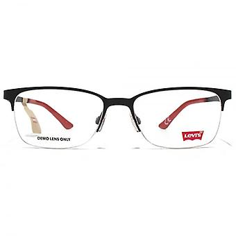 Levis Half Rim Square Glasses In Black