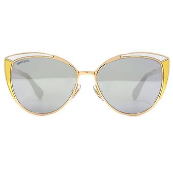 Jimmy Choo Domi Sunglasses In Gold & Silver