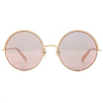Marc Jacobs Metall Twist Runde Sonnenbrille In Gold Pink