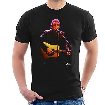 Johnny Cash spielen Gitarre Herren T-Shirt
