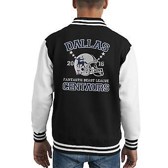 Phantastische Tierwesen League Dallas Zentauren Helm Kid Varsity Jacket