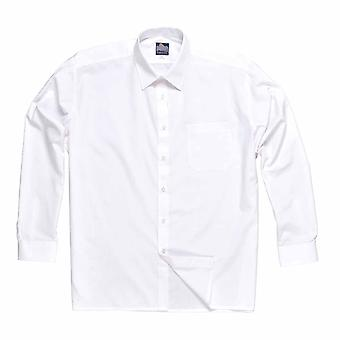 Portwest - Classic Style Uniform Workwear Long Sleeve Shirt With Breast Pocket