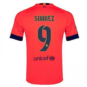 2014-15 Barcelona Away Shirt (Suarez 9)