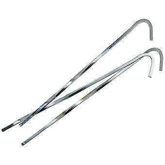 7 Inch Steel Skewer Peg Silver - 10 Pack + Carry Bag - Yellowstone