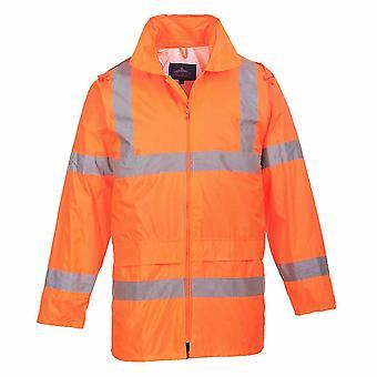 Portwest - Hi-Vis Sicherheit Workwear wasserdichte Regenjacke mit Kapuze