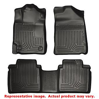 Husky Liners 98511 Black WeatherBeater Front & 2nd Seat FITS:TOYOTA 2007 - 2011