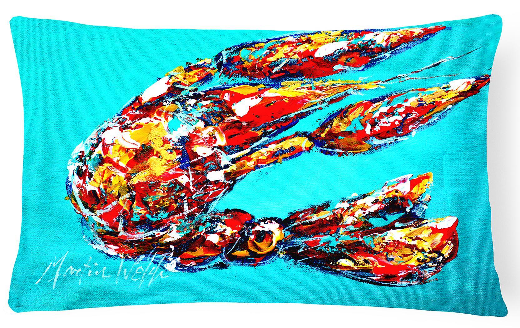 En Bleu Oreiller Lucy Décoratif Toile Tissu L'écrevisse N8wPkXZ0nO