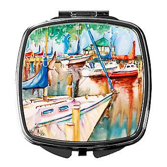 Carolines Treasures  JMK1239SCM Gazebo and Sailboats Compact Mirror