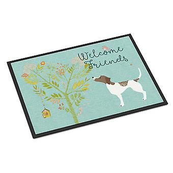 Welcome Friends Pointer Indoor or Outdoor Mat 18x27