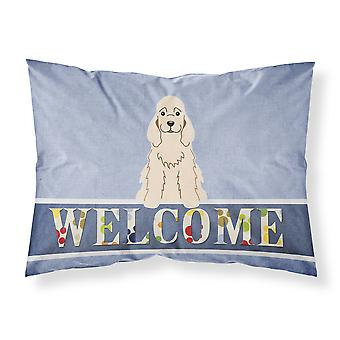 Cocker Spaniel Buff Welcome Fabric Standard Pillowcase