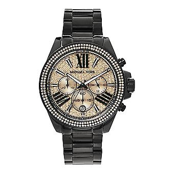 Michael Kors Watches Mk5879 Rose Gold & Black Chronograph Ladies Watch
