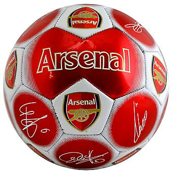 Arsenal FC Official Signature Crest Football (Size 5)