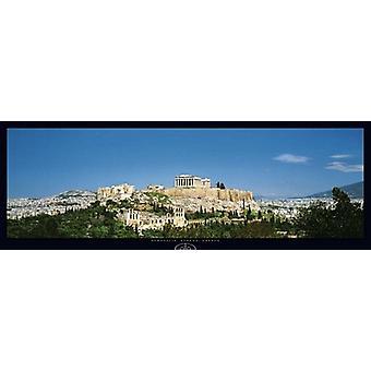 Акрополь Афины Греция плакат печати Сэкай Бунка (37 x 13)