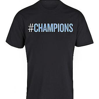 T-shirt 2012 de Manchester City Champions (Black)