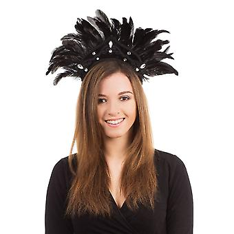 Carnival Headdress Black Feather