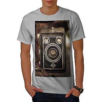 Photo Camera Old Men GreyT-shirt | Wellcoda