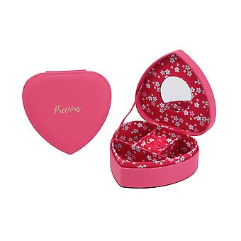 CGB Giftware Willow And Rose Fuchsia Heart Jewellery Box