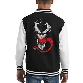Venom Splatter symbiot Kid's Varsity jacka