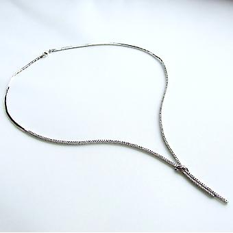 Christian white gold necklace with cubic zirconia
