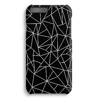 iPhone 7 Plus Full Print Case - Geometric lines white
