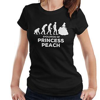 Entwicklung der Prinzessin Peach Damen T-Shirt