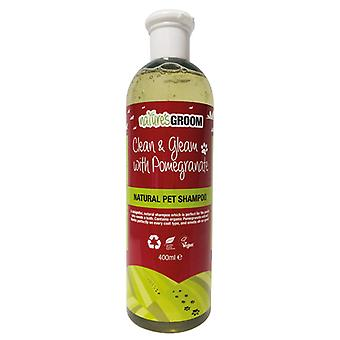 Natures Groom Clean & Gleam With Pomegranate Shampoo 400ml