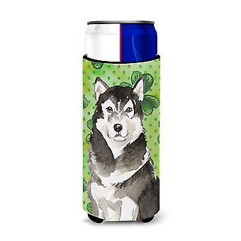 Shamrocks Alaskan Malamute Michelob Ultra Hugger for slim cans