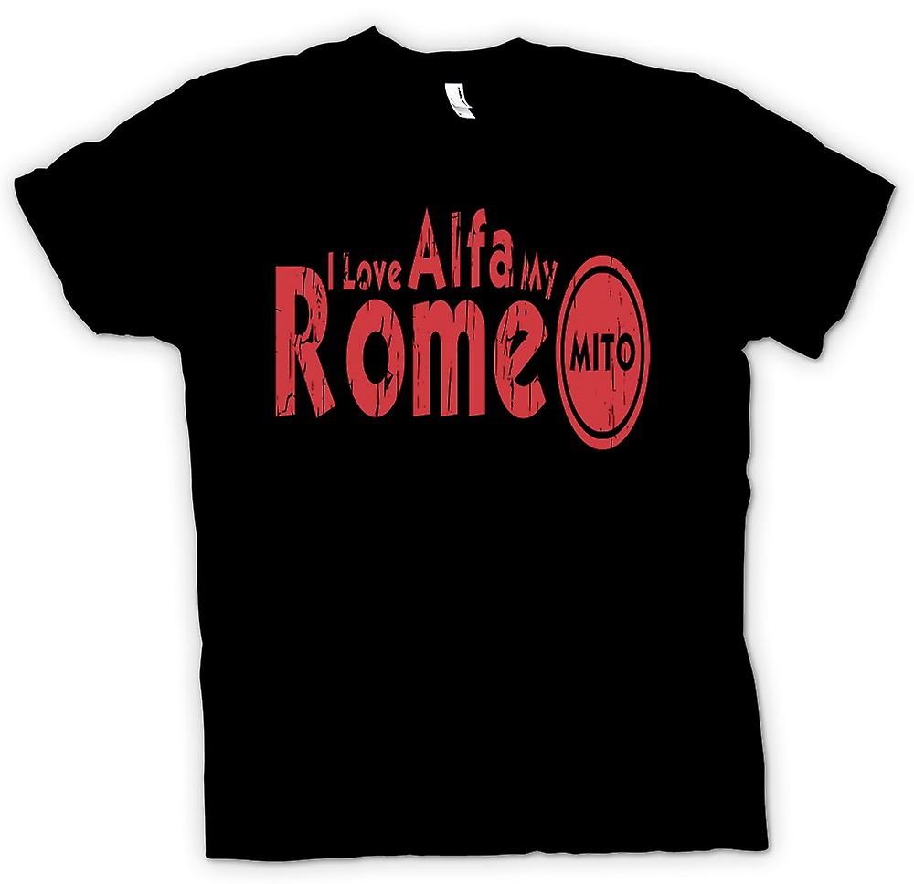 Kids T-shirt - I Love My Alfa Romeo Mito - Car Enthusiast