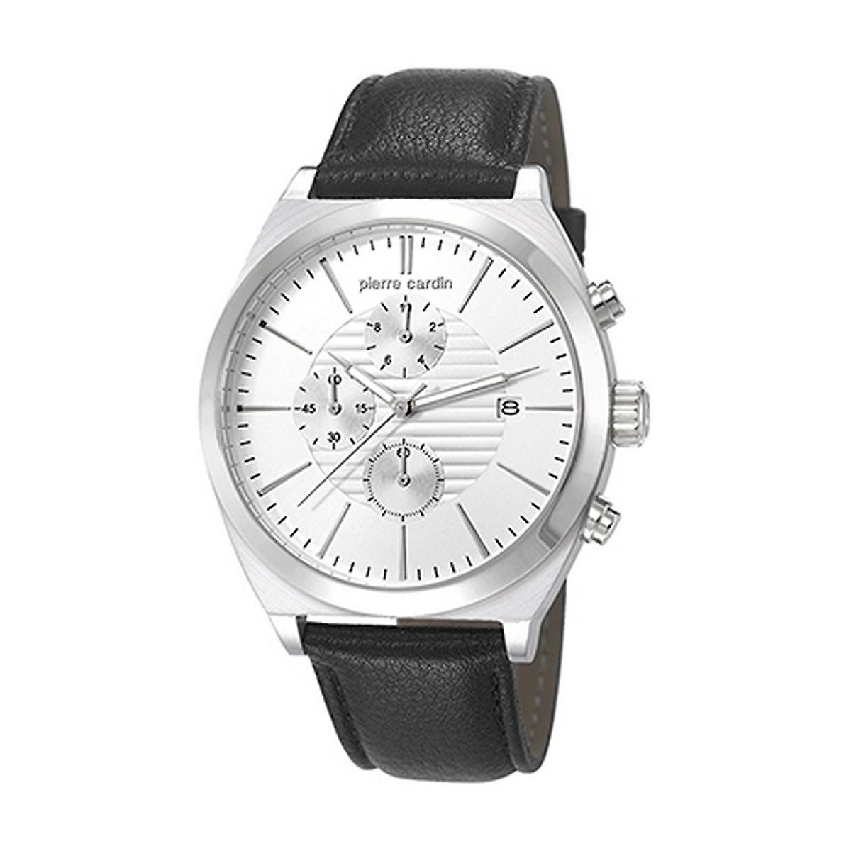 Pierre Cardin Herren Uhr Armbanduhr Chrono CAMBRONNE Leder PC106701F01