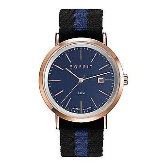 ESPRIT mens watch wristwatch Alan Rosé textile ES108361003