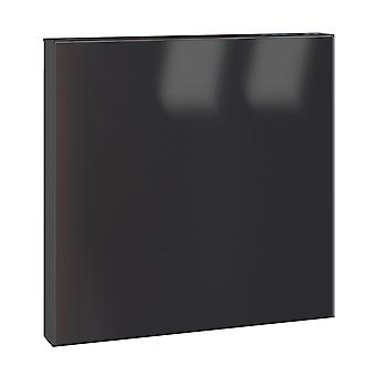 Serafini letterbox square jet black square 36 x 36 x 10 cm post box