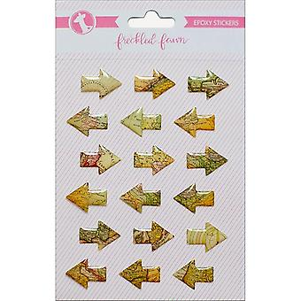 Freckled Fawn Epoxy Stickers-Vintage Map/Arrows