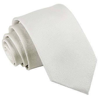 Weiße feste Check Slim Krawatte