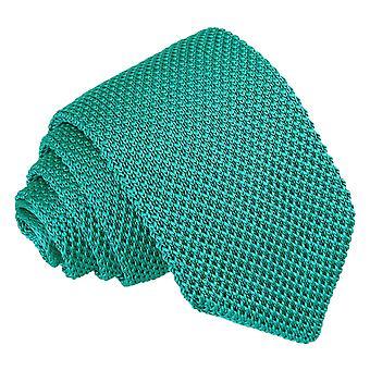 Teal gebreide slanke Tie