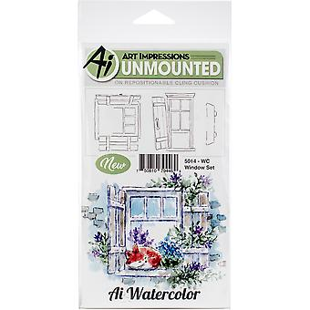 Art Impressions Watercolor Cling Rubber Stamps -Window