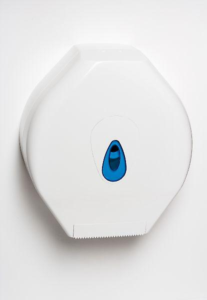 Jumbo 12 Modular Toilet Roll Dispenser; White Plastic