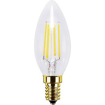 Segula LED E14 Candle 4 W = 30 W Warm white (Ø x L) 35 mm x 98 mm EEC: A+ dimmable, Filament 1 pc(s)