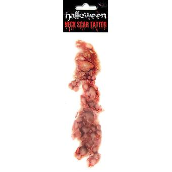 Tattoo wound pus bumps Halloween horror pus bladder neck wound blood pus
