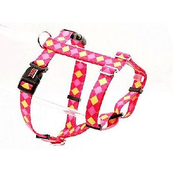 Tuff Lock Harness Small Argyle Pink