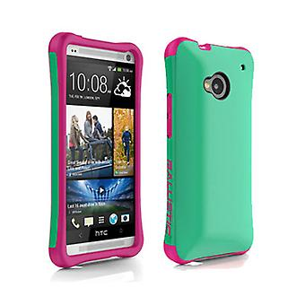 Ballistic Aspira Case for HTC One / M7 (Mint Green/Strawberry Pink)