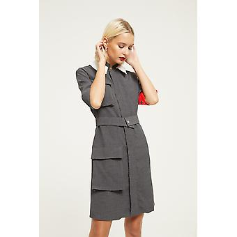 Cubic Utility Style Dress
