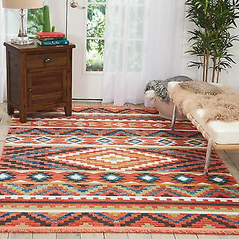 Navajo Rugs Nav04 In Orange Nourison