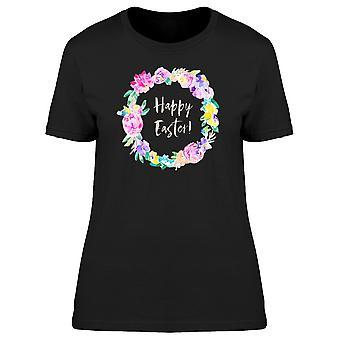 Happy Easter Neon Flowers Tee Women's -Image by Shutterstock