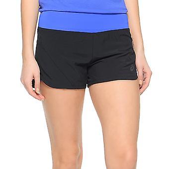 asics Womens Performance Woven 2in1 Running Gym Sports Training Shorts - Black