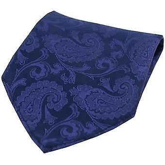 David Van Hagen Paisley Silk placu kieszeni - Royal Blue