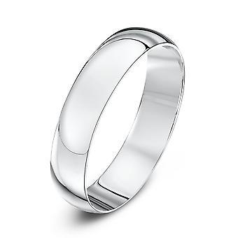 Anneaux de mariage Star 9ct or blanc lumière D forme 4mm bague de mariage